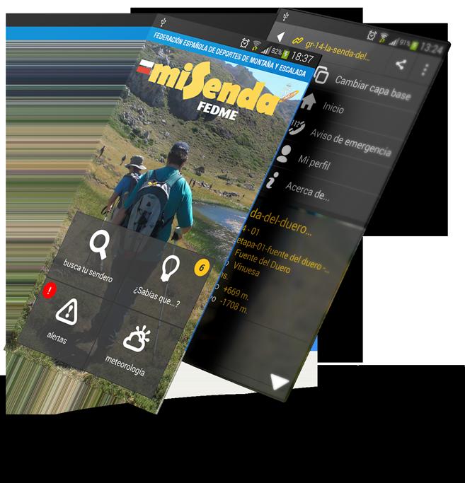 Aplicación para moviles de la FEDME