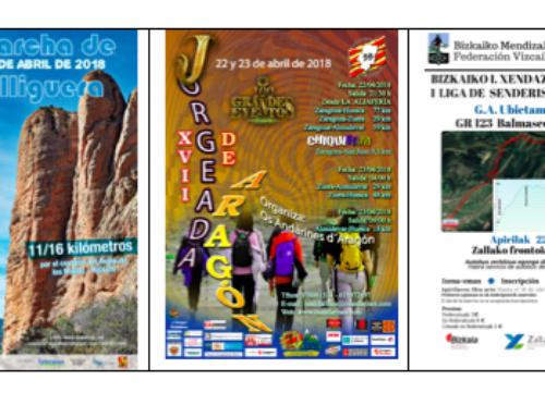 Actividades de senderismo de las federaciones para este fín de semana