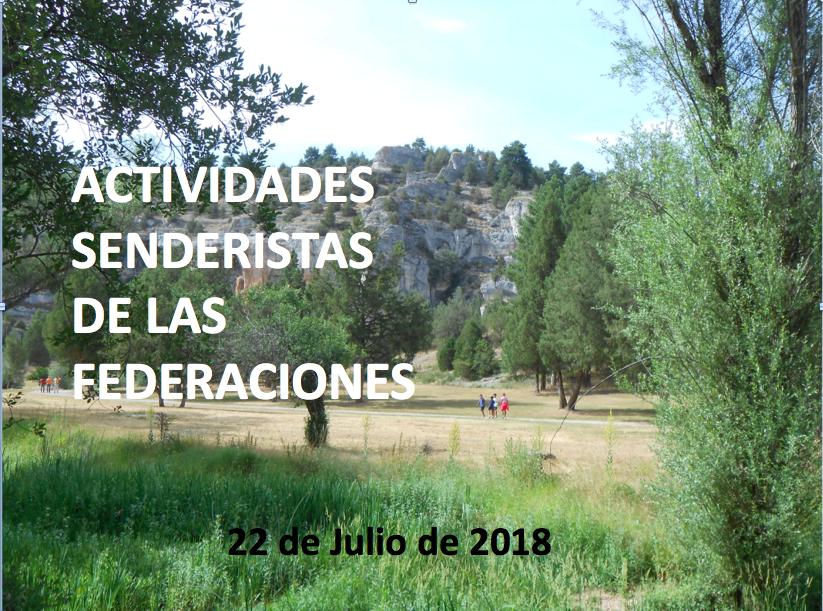actividades senderistas del 7 y 8 de julio de 2018