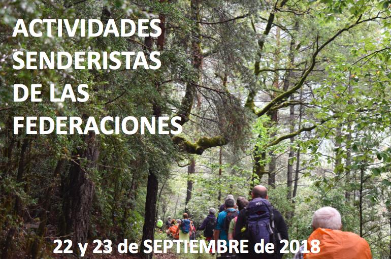 actividades senderistas del 22 y 23 de septiembre de 2018